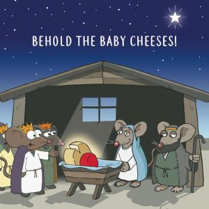 CANX40  Baby Cheeses Funny Christmas Card